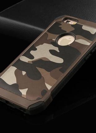 Силиконовый чехол Desert Сamo Коричневый для iPhone 7