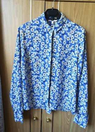 Рубашка шифоновая блуза цветочный принт