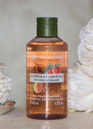 Гель для ванны и душа 200мл персик – анис  ив роше