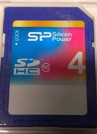 Карта памяти Silicon Power 4Gb SDHC class 10 (SP004GBSDH010V10)