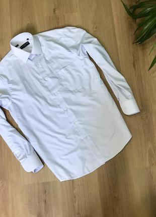 🌿 белоснежная классическая мужская рубашка