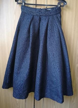 Шикарная пышная миди юбка