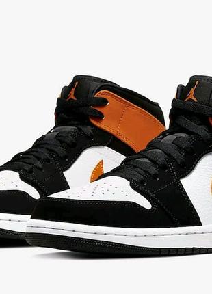 Шкіряні кросівки Nike air jordan
