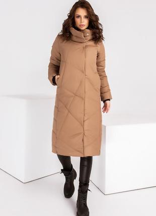 Куртка пальто зимнее на силиконе 42-46 р-р