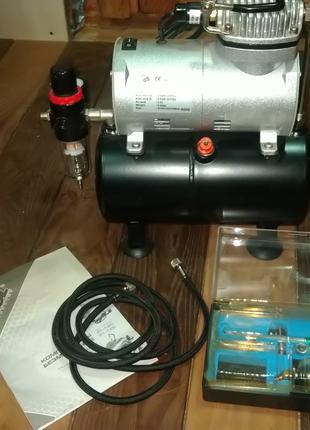 Аэрограф Miol в комплекте с компрессором 81-125
