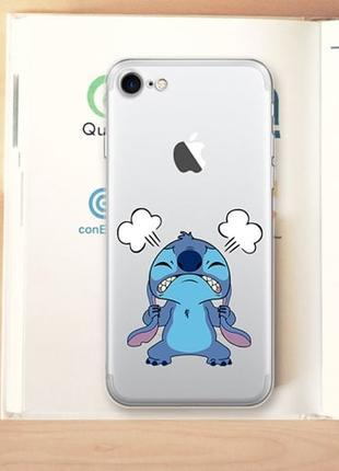 Силиконовый чехол Stitch Crazy для iPhone 7