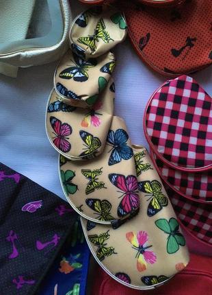 Набор косметичек 5 штук косметичка кошелёк с бабочками