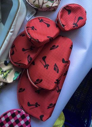 Набор косметичек 5 штук косметичка кошелёк