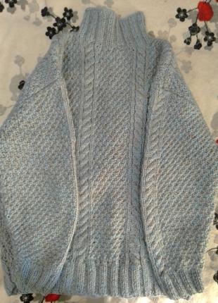 Теплый свитер вязаная ручная работа