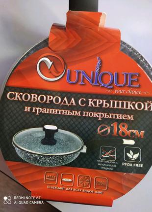 Сковорода с крышкой и гранитным покрытием