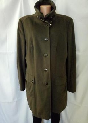 Распродажа!   стильное пальто, хаки, шерсть+кашемир,   №1vp