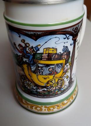 Кружка фарфоровая с крышкой для пива Original BMF W.Germany