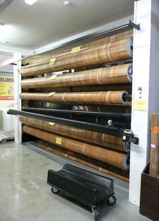 Стеллажи для хранения и демонстрации рулонного материала(Патернос