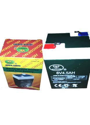 Аккумулятор Hongdeng 6V 4.5AH для весов