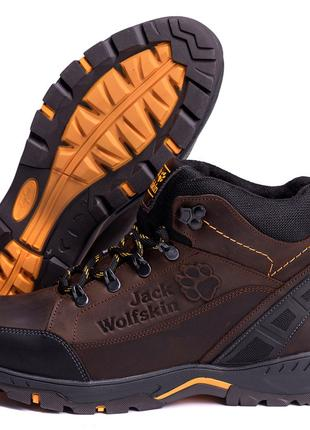 Мужские Зимние Кожаные Ботинки Jack Wolfskin