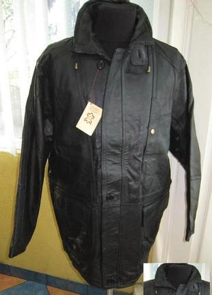 Большая кожаная мужская куртка m.flues. новая. лот 565