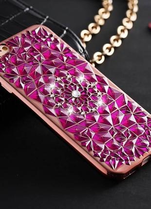 Силиконовый чехол Floveme с стразами Фиолетовый для IPhone 7