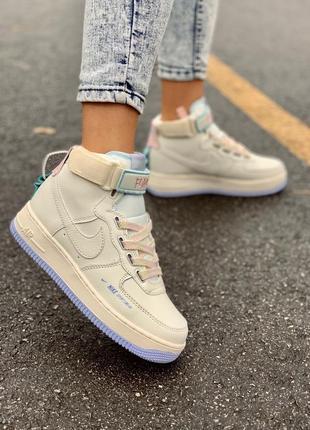 Кросівки nike af1 utility sportswear cream high кроссовки