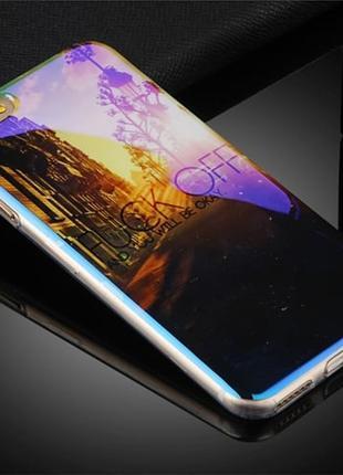 Силиконовый чехол Aurora FUCK OFF для iPhone 7