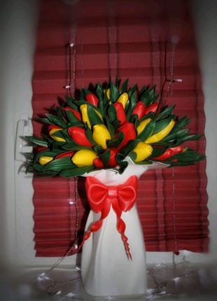 Букет светильник тюльпаны из изолона