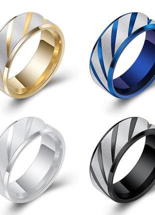 Кольцо из ювелирной стали Stainless steel с искровым узором