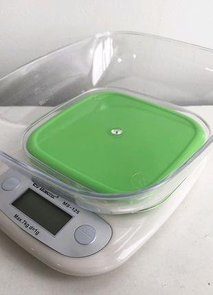 Весы кухонные DOMOTEC MS-125 Plastic. Цвет: зеленый