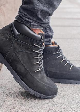 Ботинки тімберленд чорні весна - осінь
