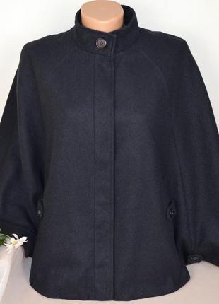 Темно-синее демисезонное пальто кейп пончо с карманами george ...