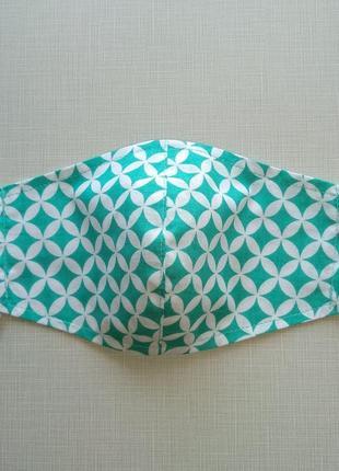 Бирюзовая маска ,защитная маска с ткани