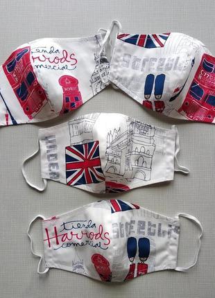 Женская, мужская маска лондон многоразового использования