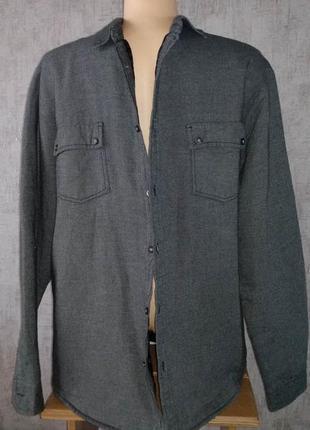 Рубашка мужская xl на синтепоне