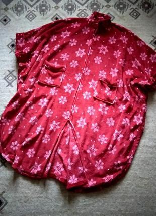 Плюшевый халат-пончо cozee home, универсальный размер