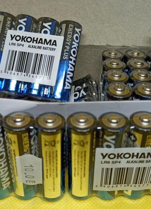 Батарейки YOKOHAMA Alkaline АА, LR6 / 1,5 V - 36 шт. Оригінал!
