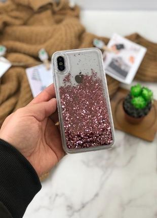 "Чехол на iPhone переливающийся ""Блестки"" Бампер на айфон"