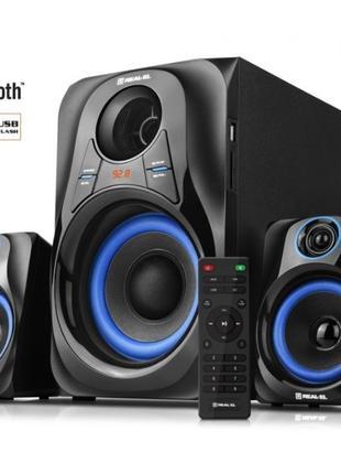 Акустическая система 2.1 REAL-EL M-380 32Вт, Bluetooth, USB, S...