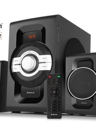 Акустическая система 2.1 REAL-EL M-590 60Вт, Bluetooth, USB, S...