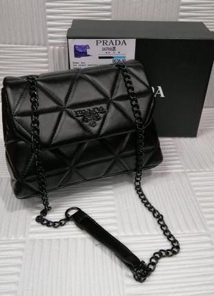 Чёрная сумка Прада Prada