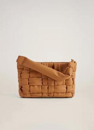 Плетеная сумка mango