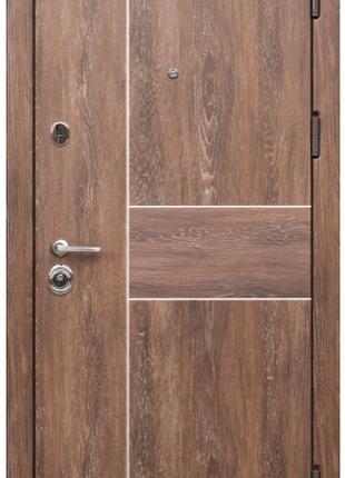 Входная Дверь Коллекции Троя -Дуб шале корица+молдинг аллюминий