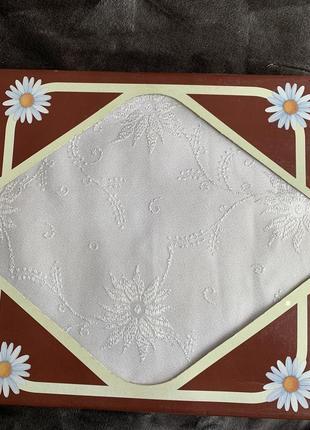 Белая скатерть, біла скатертина160x220 .
