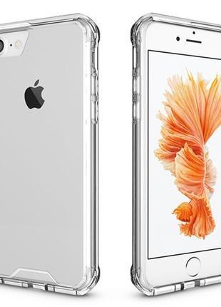 Силиконовый чехол с пластиковой основой Прозрачный для iPhone 7