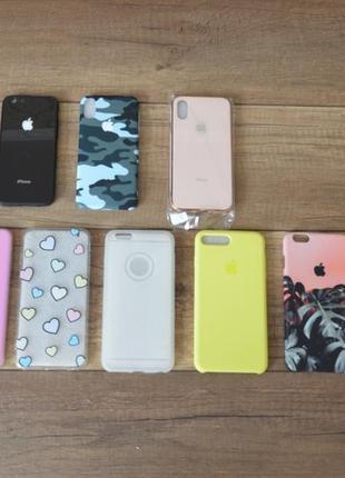 Новый чехол apple iphone xs, 6 plus, 6s plus, 7 plus, 6, 6s, 7, 8