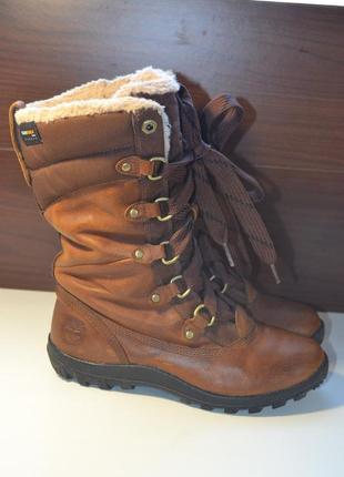 Timberland 37.5р ботинки высокие снегоступы кожаные зимние