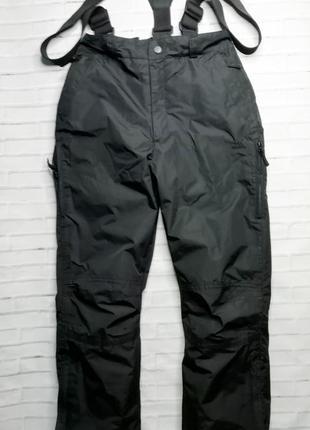 Шотландские лыжные брюки, штаны на лямках, полукомбинезон унис...
