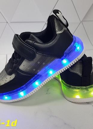 Детские кроссовки с подсветкой, 7 цветов