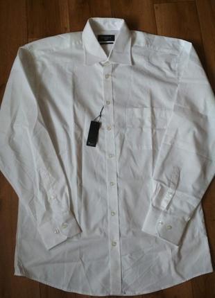 Новая стильная белая рубашка от бренда bexleys, р. м/40, наш 4...