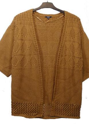 Кардиган женский накидка вязаная кофта французского бренда kia...
