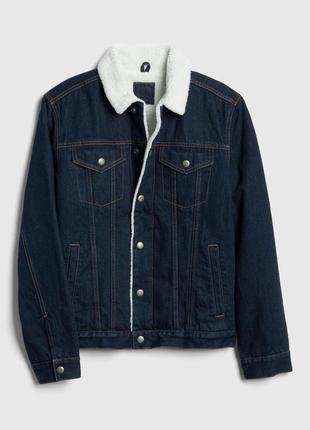 Мужская куртка шерпа gap sherpa-lined icon denim jacket
