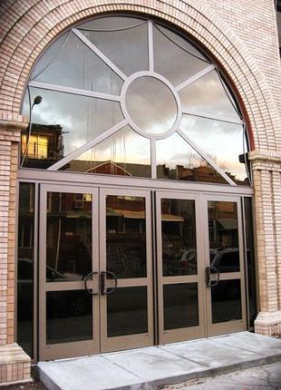 Двери входные алюминиевые
