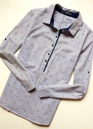Mango рубашка в полоску